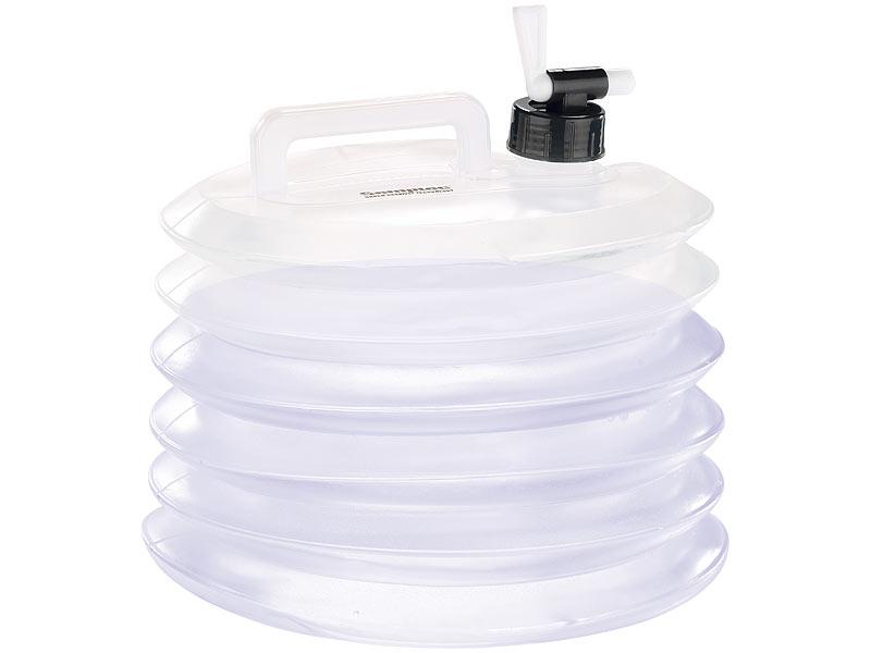 Faltkanister faltbarer Camping Kanister Wasserbehälter 10 Liter mit Hahn