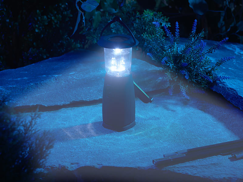 ; Solar-LED-Camping-Laterne mit Powerbank, Solar Camping-Laternen