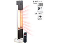 Semptec Urban Survival Technology IR-Stand-Heizstrahler, Fernbedienung, Timer, 3-stufig, 2.000 W, IP34