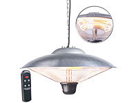 Semptec Urban Survival Technology IR-Decken-Heizstrahler mit LED-Licht, Fernbedienung, bis 2.000 W, IP34