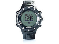 Semptec Urban Survival Technology Outdoor-Armbanduhr für Trekking, Black-Edition; Funk Herren Armbanduhren mit Solar, Taucheruhren Chronographen Funk Herren Armbanduhren mit Solar, Taucheruhren Chronographen Funk Herren Armbanduhren mit Solar, Taucheruhren Chronographen