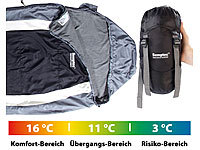 Semptec Urban Survival Technology Leichter Mumien-Schlafsack mit Fleece-Futter, 215 x 75 x 50 cm