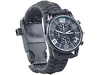 Semptec Urban Survival Technology Montre de survie 5 en 1 avec bracelet en paracorde
