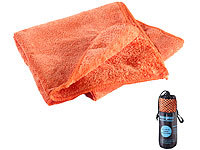 Semptec Urban Survival Technology Mikrofaser-Handtuch, 2 versch. Oberflächen, 80 x 40 cm, orange