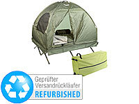 Semptec Urban Survival Technology 4in1-Doppelzelt/2 Schlafsäcken, Matratze, Liege & Kissen (refurbished)
