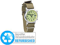 Semptec Urban Survival Technology Outdoor-Armbanduhr mit Funk und Solarbetrieb (Versandrückläufer); Outdoor Multifunktionsuhren Outdoor Multifunktionsuhren