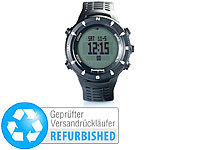 Semptec Urban Survival Technology Outdoor-Armbanduhr für Trekking, Black-Edition (refurbished)